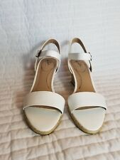 NEW WOMENS LIFE STRIDE WHITE REAGAN WEDGE SANDALS SHOES SIZE 10W