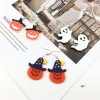 Halloween Cartoon Ghost Pumpkin Drop Dangle Earrings Acrylic Funny for Women US
