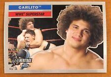 "CARLITO, WWE ""HERITAGE"" 2006 TOPPS CHROME TRADING CARD!"