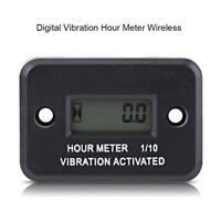 LCD Digital Vibration Hour Meter Gauge Wireless for Motorcycle ATV Boat Marine