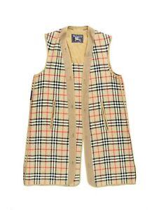 VTG Burberry 52 Reg 100% Wool Trench Coat Liner ONLY Brown Nova Check Plaid
