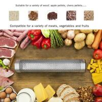 Outdoor BBQ Grill Smoker Tubes Barbecue Wood Pellet Meat Cold Y3L2 Box R6C6