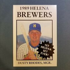 1989 Sports Pro HELENA Brewers #27 DUSTY RHODES Manager Baseball Card