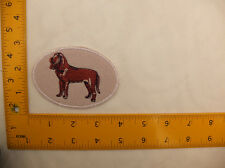"EMBROIDERED Blood Hound in oval patch #9 Iron On / Sew On Patch approx 4""(10cm)"