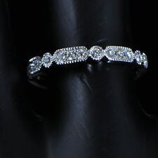 Solid 14kt 585 White Gold With Natural Diamonds Fashion Ring
