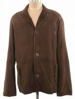 Robert Comstock NWT Tobacco Brown Rough Suede Leather Jacket Size 48 US $750