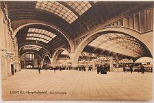 26848 AK Leipzig Haupt Bahnhof Querbahnsteig innen 1916 sehr selten