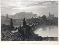 Spain, MIRANDA DE EBRO RIVER BURGOS ~ Old David Roberts 1837 Art Print Engraving