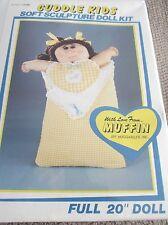 "Vintage Cuddle Kids Soft Sculpture Doll Craft Kit Full 20"" Huggables Doll Kit"