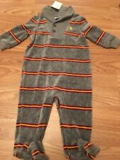NWT Ralph Lauren Polo Infant Long Sleeve Velour Coverall  Gray 6m $35 Holiday