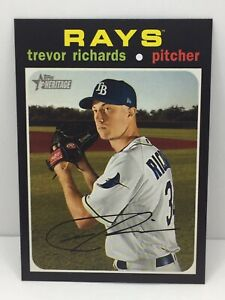 2020 Topps Heritage Trevor Richards #173 Tampa Bay Rays