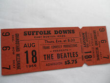 THE BEATLES 1966 Original__UNUSED__CONCERT TICKET__Suffolk Downs__EX++