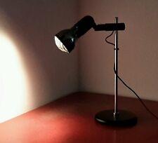 alte Lampe Gelenkarm Lamp Retrolampe Gitter Chrom Vintagelampe chrome Tisch