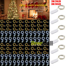 Lots 30LED Waterproof LED MICRO Silver Copper Wire String Fairy Lights Decor