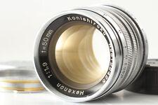 🔹Almost MINT🔹 Konica Konishiroku Hexanon 50mm f1.9 for Leica L39 LTM M Adapter