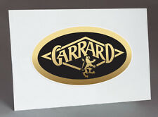 GARRARD CLEAR VINYL STICKER VINTAGE LOGO for TURNTABLE PLINTH, 50's early 60's