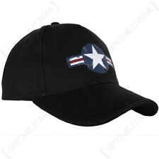 Black USAF Baseball Cap One Size Fits All Adjustable US Air Force Star and Bar