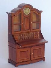 "MINIATURE DOLLHOUSE ""GIGI"" GUSTAVIAN DESK/CLOCK BY MARITZA FOR BESPAQ-MM 013 NWN"