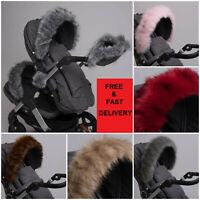 Luxury Pram Fur Hood Furs Trim Baby Pram Accessory Buggy Stokke Bugaboo Mima Egg