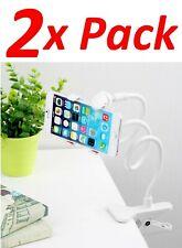 2x Adjustable Long Arm Bed Desk Lazy Bracket Clip Smart Phone Stand Holder Mount