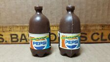 Two Vintage Mini Pepsi Plastic Bottles (A-1)