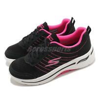 Skechers Go Walk Arch Fit-True Vision Black Pink Women Walking Shoes 124484BKPK