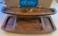 Vintage 1960's Men's Wood Dresser Valet Tray Organizer Wood