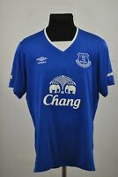 2015/2016 Everton FC home jersey football shirt L men's Umbro Chang Toffees