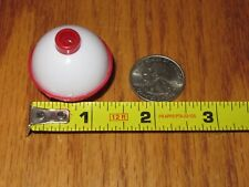 "100 1.25"" FISHING BOBBERS Round Floats Red / White SNAP ON FLOAT Bulk Pack"
