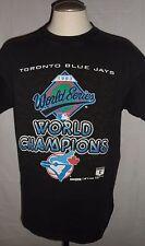 TORONTO BLUE JAYS 1993 World Series Champions MLB Black Vintage T-Shirt XL