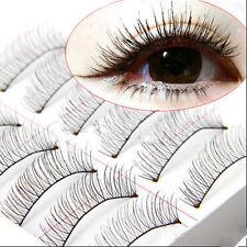 Cross 10 Pairs Makeup Handmade Extension Eye Lashes False Eyelashes Soft Natural
