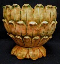 "Vintage Artichoke Urn 10"" Terracotta and Green"