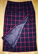 Cato Red Black Plaid Long Maxi Wrap Skirt Size 14 Holiday Hostess