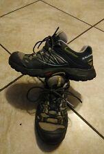 Salomon Contagrip Black green Hiking Trail Sneakers Shoes Womens 6 Gore-Tex