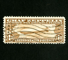 US Stamps # C14 VF Fresh neat Graf Zeppelin with flag cancel