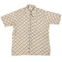 Vintage 1950s/60s Fleetline Rockabilly Disco Print 15 - 15.5 Medium Button Shirt