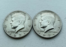 1971-D Kennedy Half Dollar Silver Coins Lot of 2