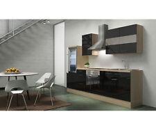 respekta Prime à encastrer cuisine COIN CUISINE 270 cm acacia NOIR BRILLANT