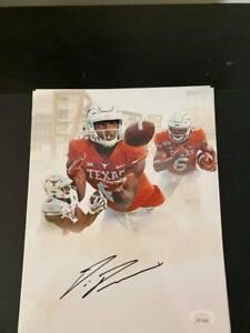 Devin Duvernay signed Texas Longhorns 8x10 photo JSA COA autograph 2