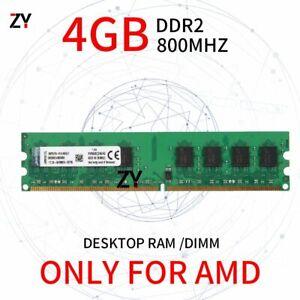 4GB Module DDR2 PC2-6400U 800MHz 1.8V AMD Desktop Memory DIMM RAM For Kingston