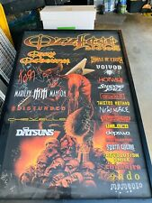 Rare 2003 Ozzfest Tour Poster Signed By Ozzy ,Korn,Marilyn Manson 13 More 1/1