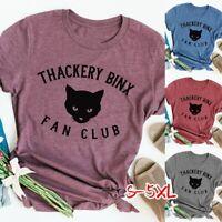 Women Fashion O-neck Tops  Thackery Binx Hocus Pocus Casual Loose T-Shirt Blouse