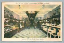 Karson's Soda Fountain~Tea Room OTTAWA Ontario 49 Rideau St Restaurant Interior