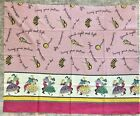 Vintage Feed Sack With Square Dancers Musical Instruments  Squares Dance Calls