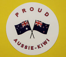 PROUD AUSSIE - KIWI AUSTRALIAN NEW ZEALAND STICKER VINYL DECAL CAR TRUCK CARAVAN