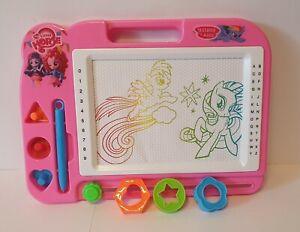 Magische Zaubertafel Kinder Magnettafel Maltafel Kindertafel mit Ponys
