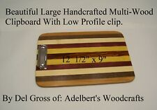 "Designer Clipboard 12 1/2 ""x 9'' Handcrafted Signed and Dated.  HandMade in USA."