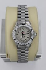 Tag Heuer 2000 Professional Silver 972.008 Watch Womens SS EUC Sport Gray