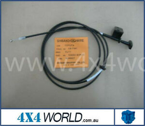 For Landcruiser HJ75 FJ75 Series Body - Bonnet / Hood Lock Cable 86 On