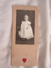 VINTAGE PHOTO, 1800'S, CLARENCE HASTINGS, BABY, PONTIAC, ILL., HEATH PHOTOGRAPHY